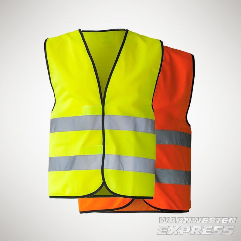 Warnweste ISO EN 20471 gelb und orange