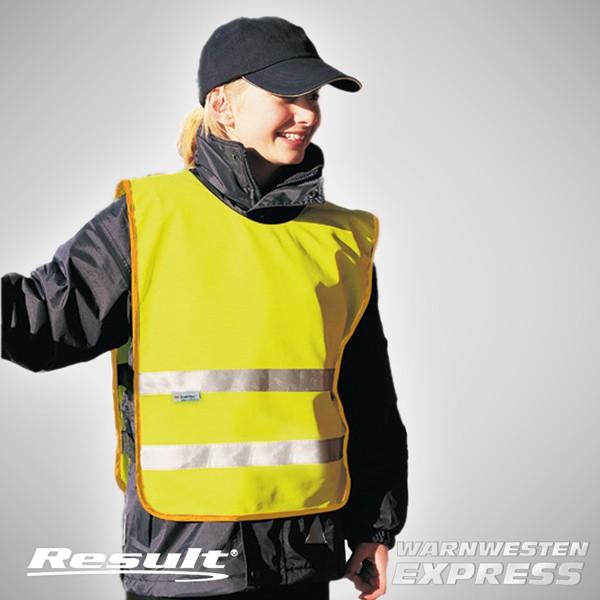 Warnweste Sicherheitsüberwerfer mit Druck - Junior Safety EN1150 - Result