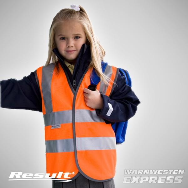 Warnweste mit Druck - Junior Hi-Vis Safety Vest - Result