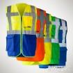 Multifunktions-Warnweste Executive - mit Reißverschluss und Taschen