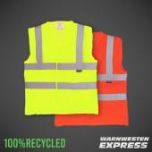 Öko-Warnweste aus 100% recyceltem Polyester EN20471 - YK120 - Yoko