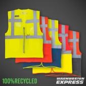 Öko-Warnweste aus 100% recyceltem Polyester - YK820 - Yoko