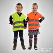 Warnweste - Sicherheitsweste für Kinder - Gelb und Orange