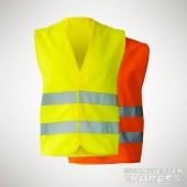 Unisize Warnweste - EN ISO 20471 - gelb und orange