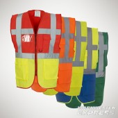 YOKO Multifunktions-Warnweste - EXEC BandBrace Waistcoat - in 10 Farben